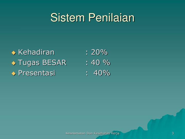 Sistem penilaian