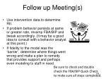 follow up meeting s