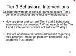 tier 3 behavioral interventions1