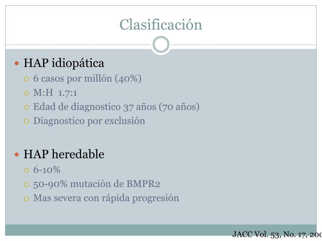 PPT - Hipertensión arterial pulmonar PowerPoint..