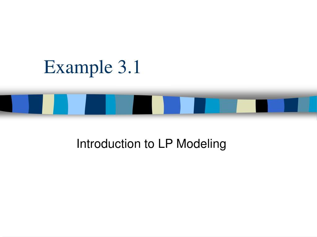example 3 1 l.