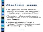 optimal solution continued27