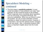spreadsheet modeling continued12