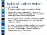 traditional algebraic method continued7