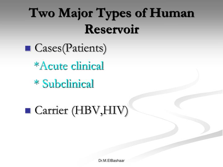 Two Major Types of Human Reservoir