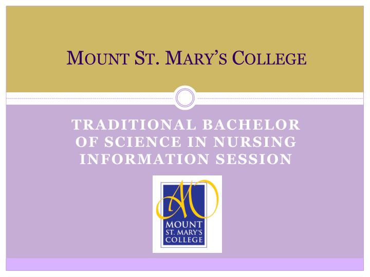 mount st mary s college n.