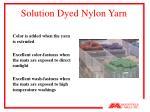solution dyed nylon yarn