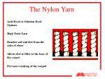 the nylon yarn