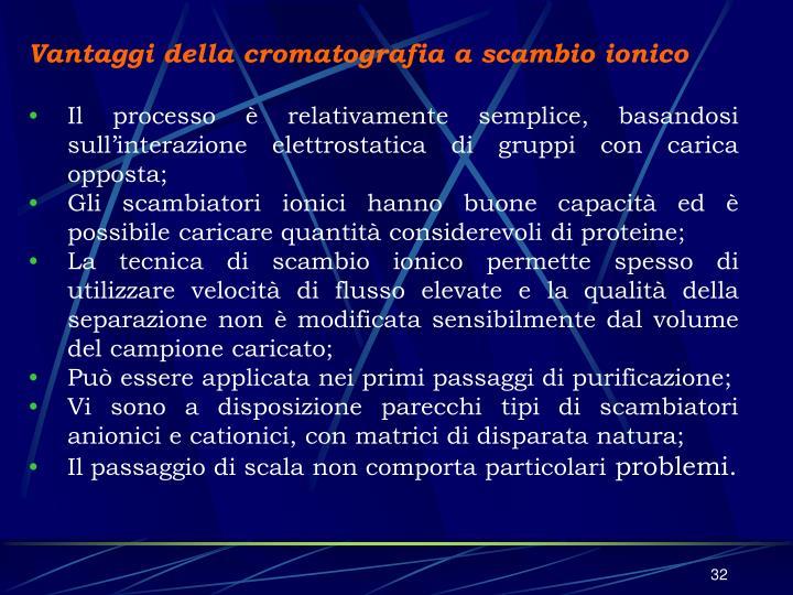 Vantaggi della cromatografia a scambio ionico