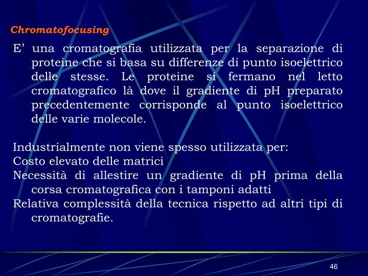 Chromatofocusing