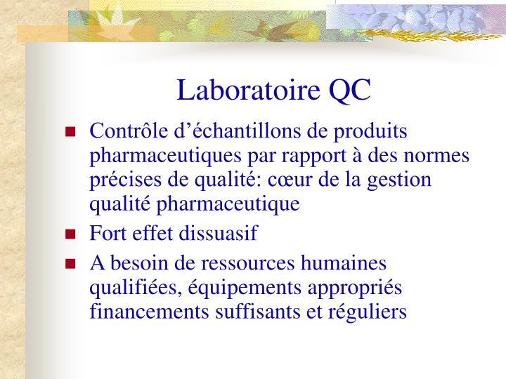 Laboratoire QC