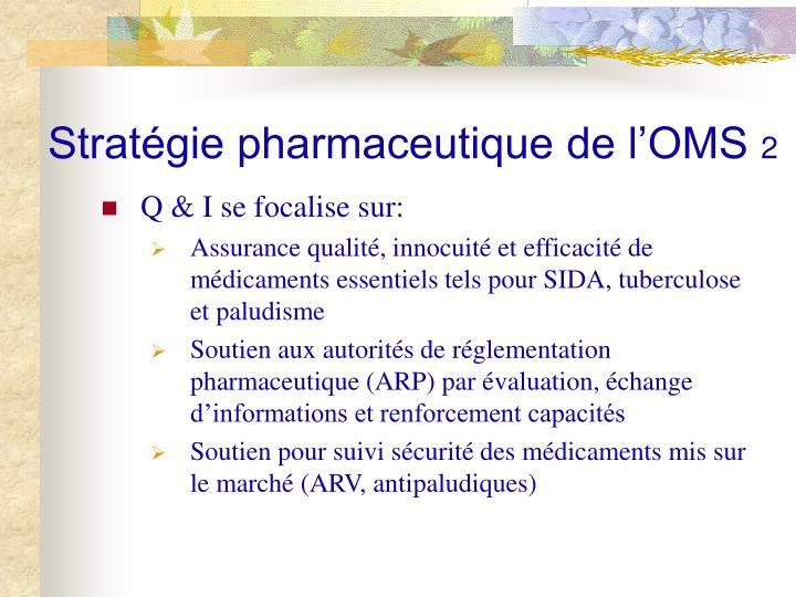 Stratégie pharmaceutique de l'OMS