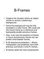 b frames