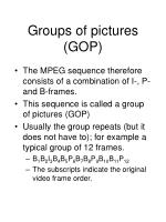 groups of pictures gop