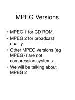mpeg versions