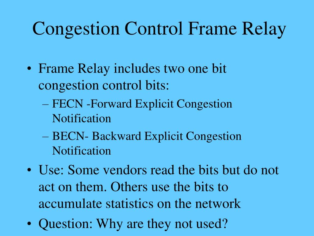 Congestion Control Frame Relay