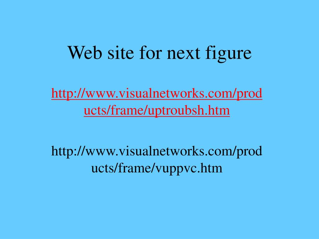Web site for next figure