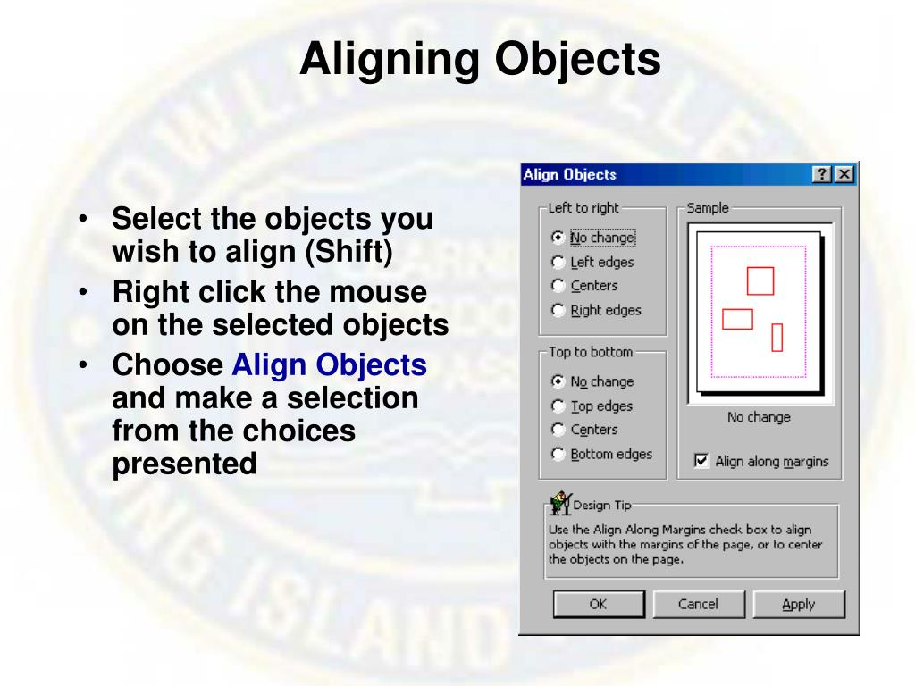 Aligning Objects