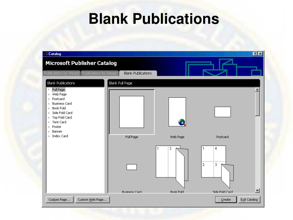 Blank Publications