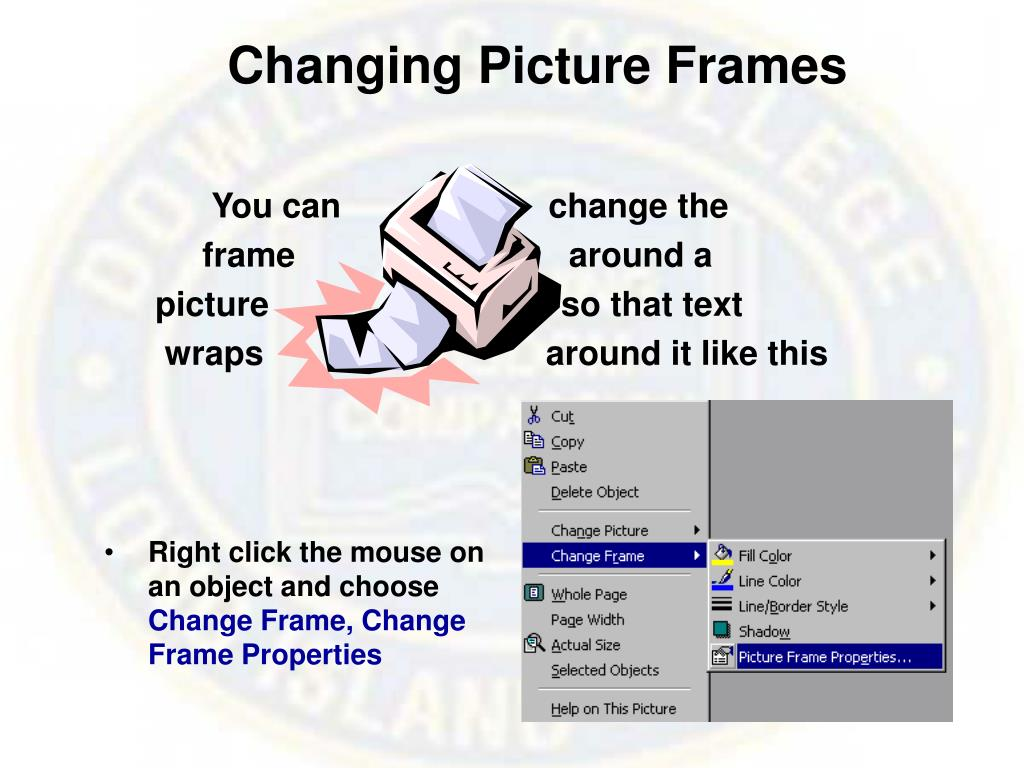 Changing Picture Frames