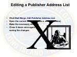 editing a publisher address list