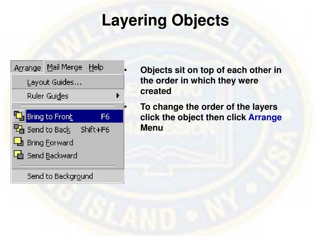 Layering Objects