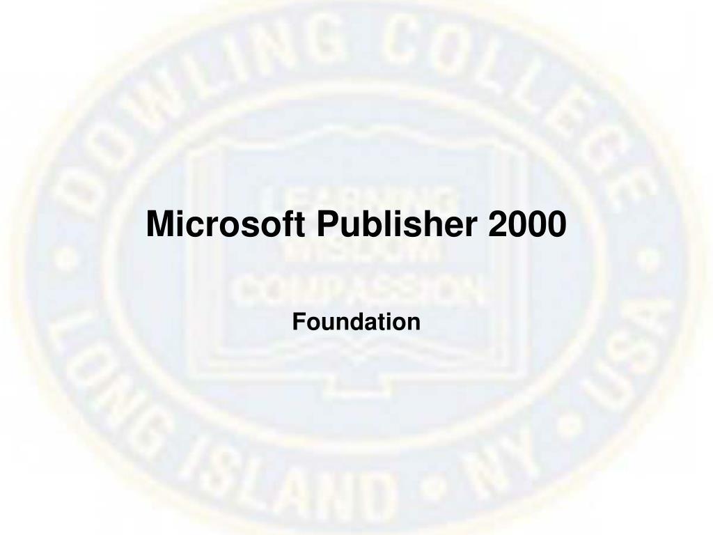microsoft publisher 2000 l.
