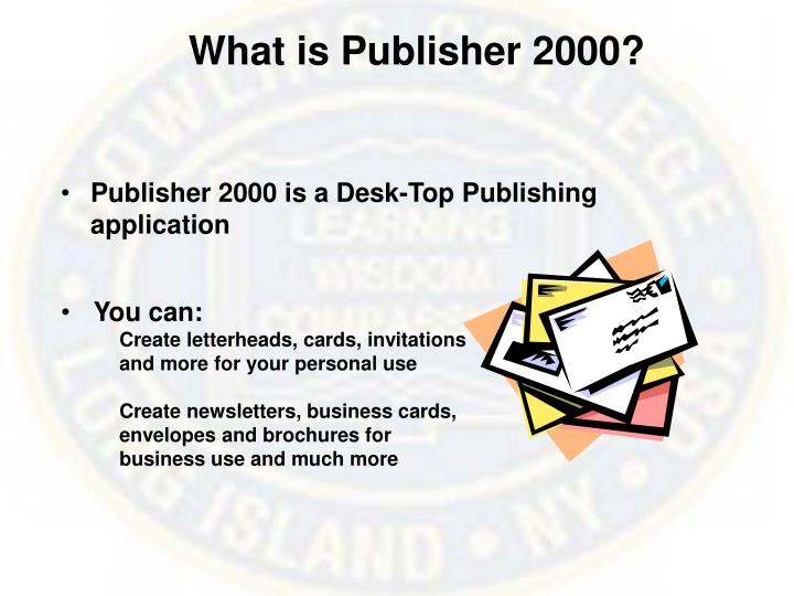 What is publisher 2000