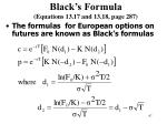 black s formula equations 13 17 and 13 18 page 287