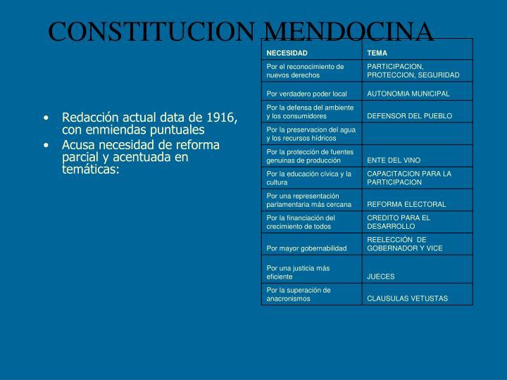 CONSTITUCION MENDOCINA