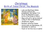 christmas birth of jesus christ the messiah