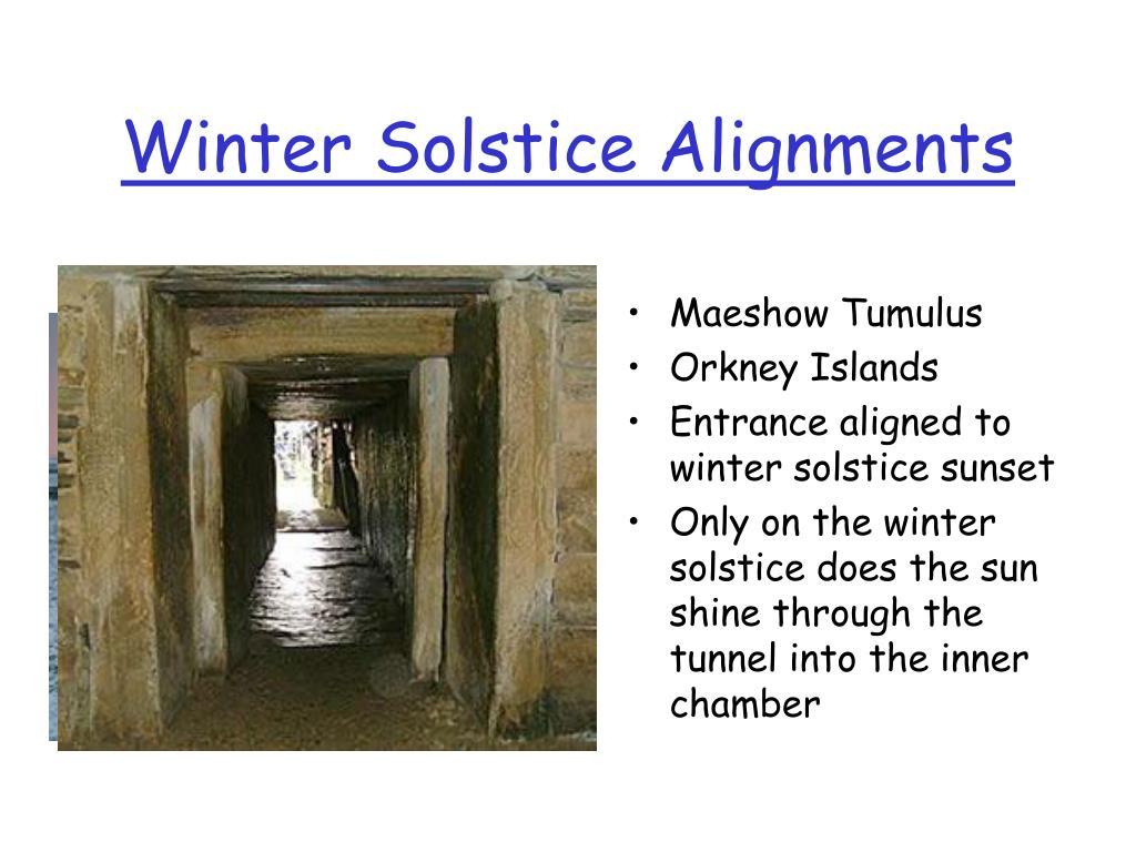 Winter Solstice Alignments
