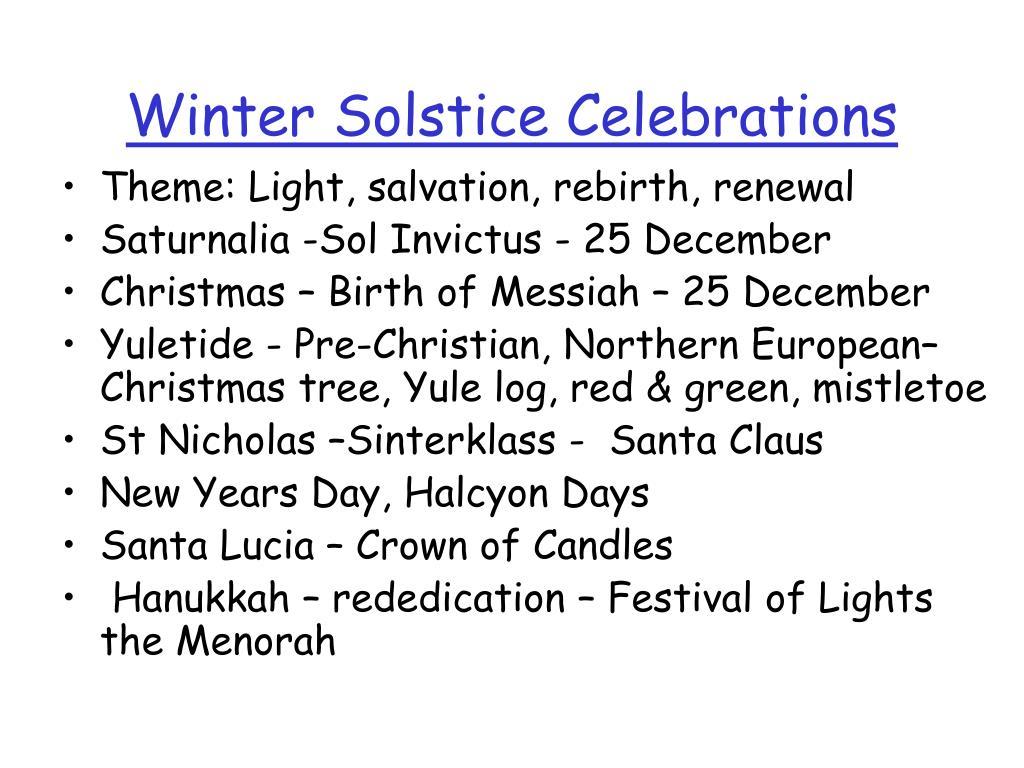 Winter Solstice Celebrations