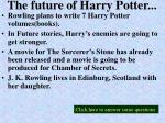 the future of harry potter