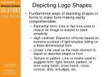 depicting logo shapes