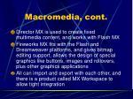 macromedia cont