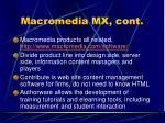 macromedia mx cont