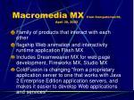 macromedia mx from computerworld april 30 2002