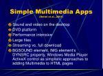 simple multimedia apps deitel et al 2001