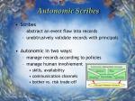 autonomic scribes