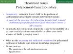 theoretical issues polynomial time boundary