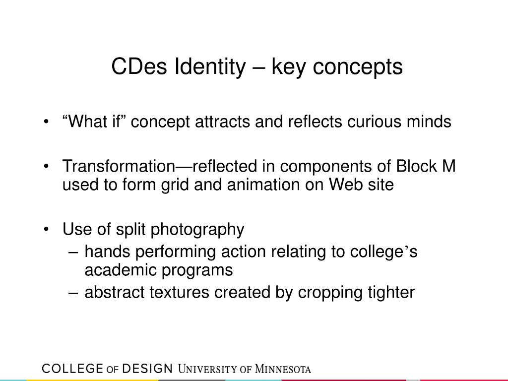 CDes Identity – key concepts