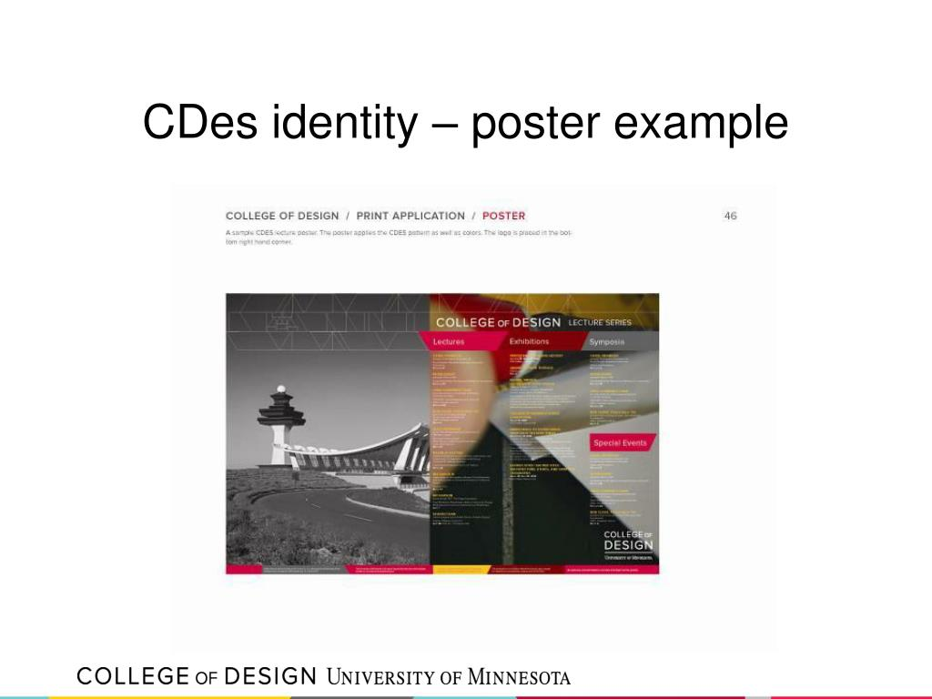 CDes identity – poster example