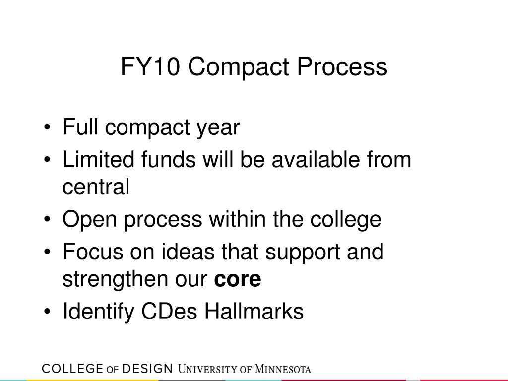 FY10 Compact Process