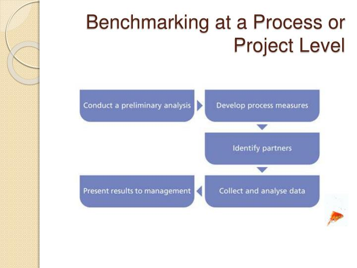 Benchmarking at a Process or Project Level