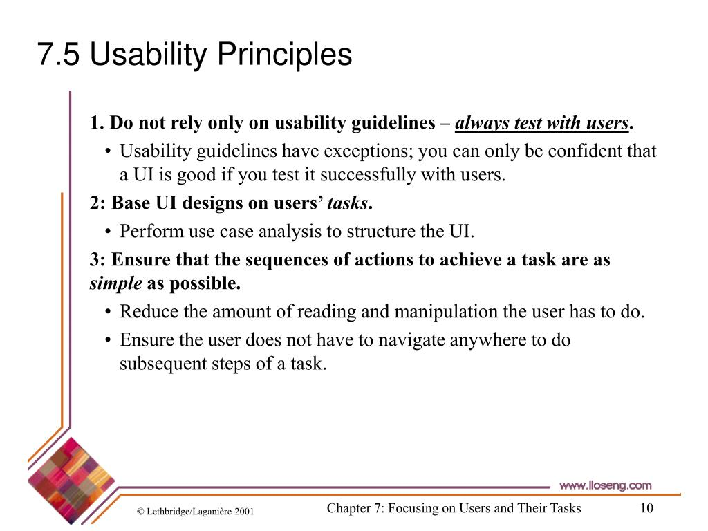 7.5 Usability Principles