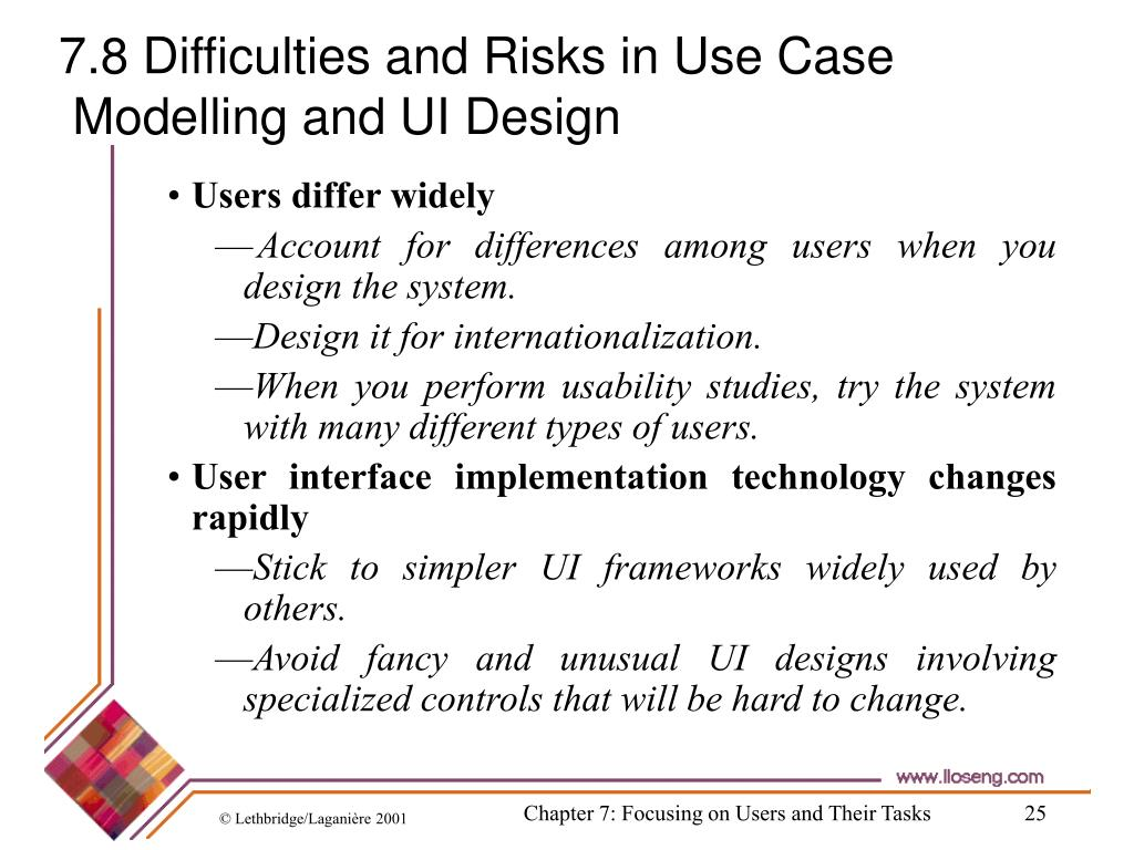 7.8 Difficulties and Risks in Use Case