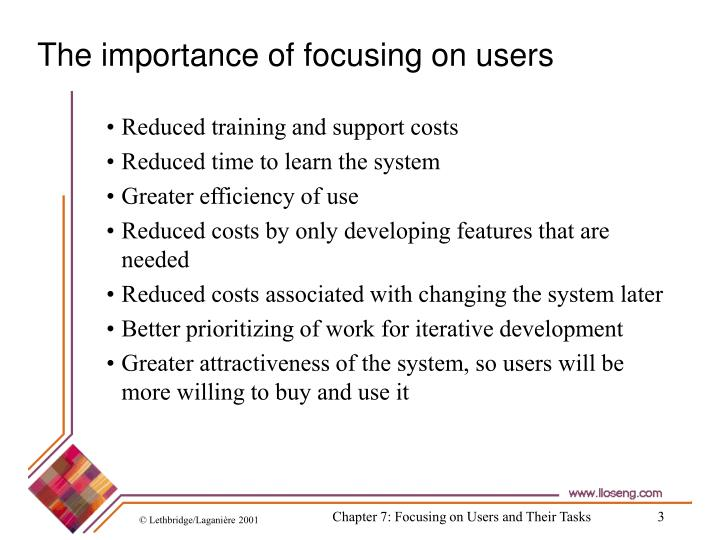 The importance of focusing on users
