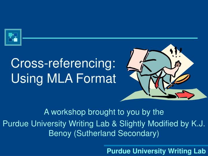 cross referencing using mla format n.