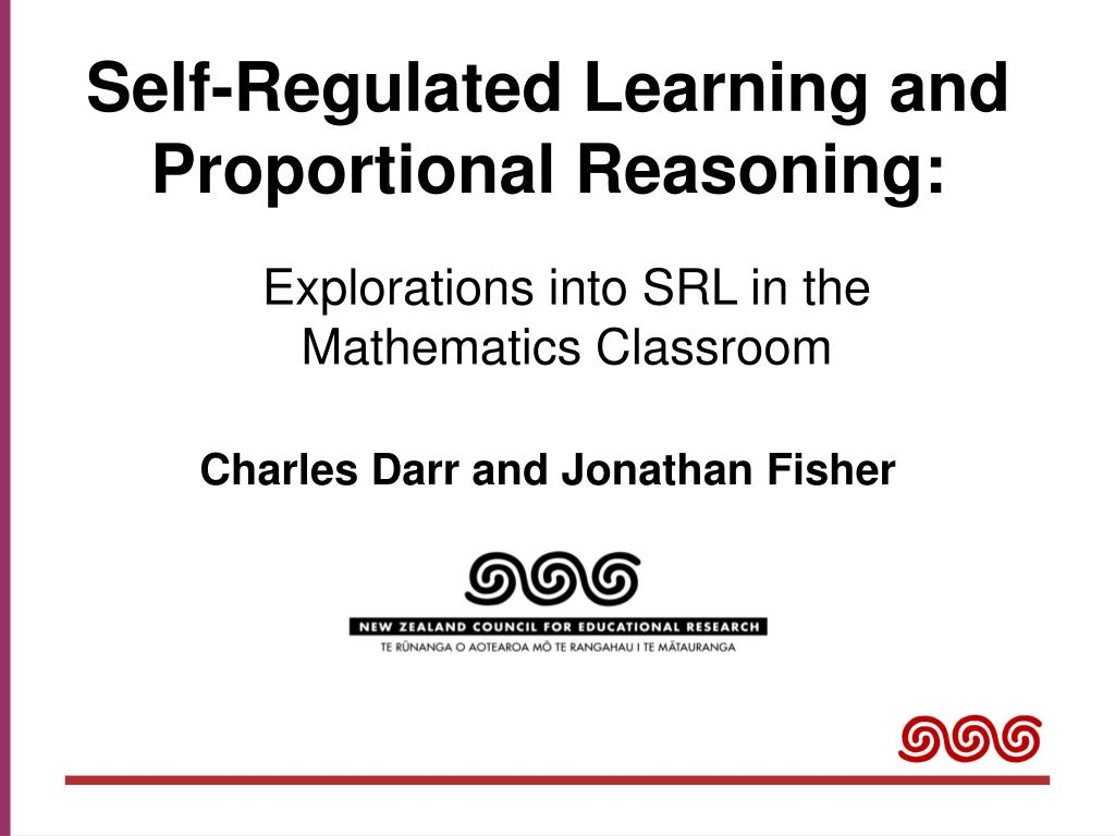 self regulated learning and proportional reasoning l.